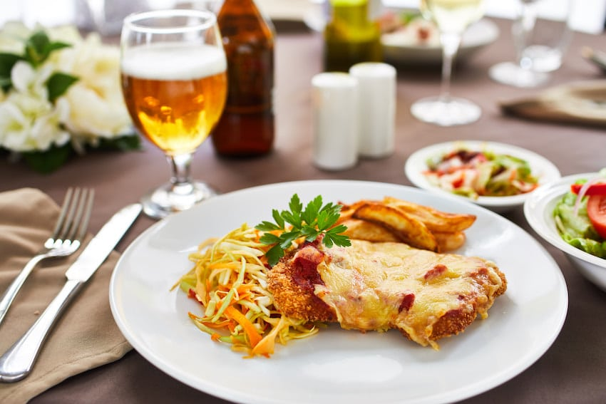 CraigCare Food Options - chicken parmigiana with coleslaw