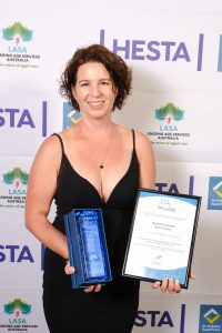 Clinical Care Coordinator Ryan for winning the 2019 Aged Care Excellence staff award
